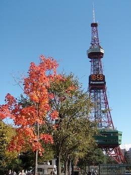 大通公園秋の時計台