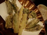 白老「河庄」山菜天ぷら