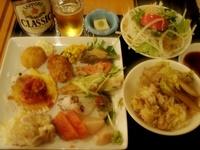 サロマ湖鶴雅夕食