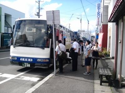 木古内駅前代替バス