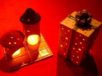 陶芸体験キャンドルスタンド作り
