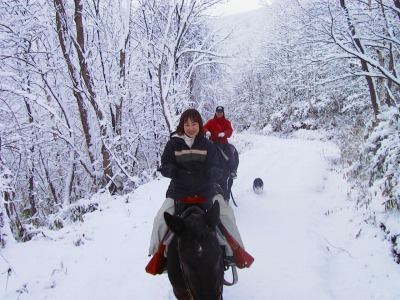 小樽 春香ホースランチ 雪中乗馬
