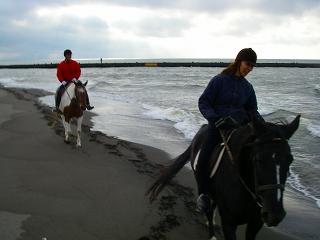 フロンテア乗馬クラブ 海岸トレッキング