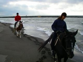 石狩の海岸を馬に乗ってトレッキング.jpg