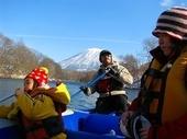 冬のニセコ 川下り
