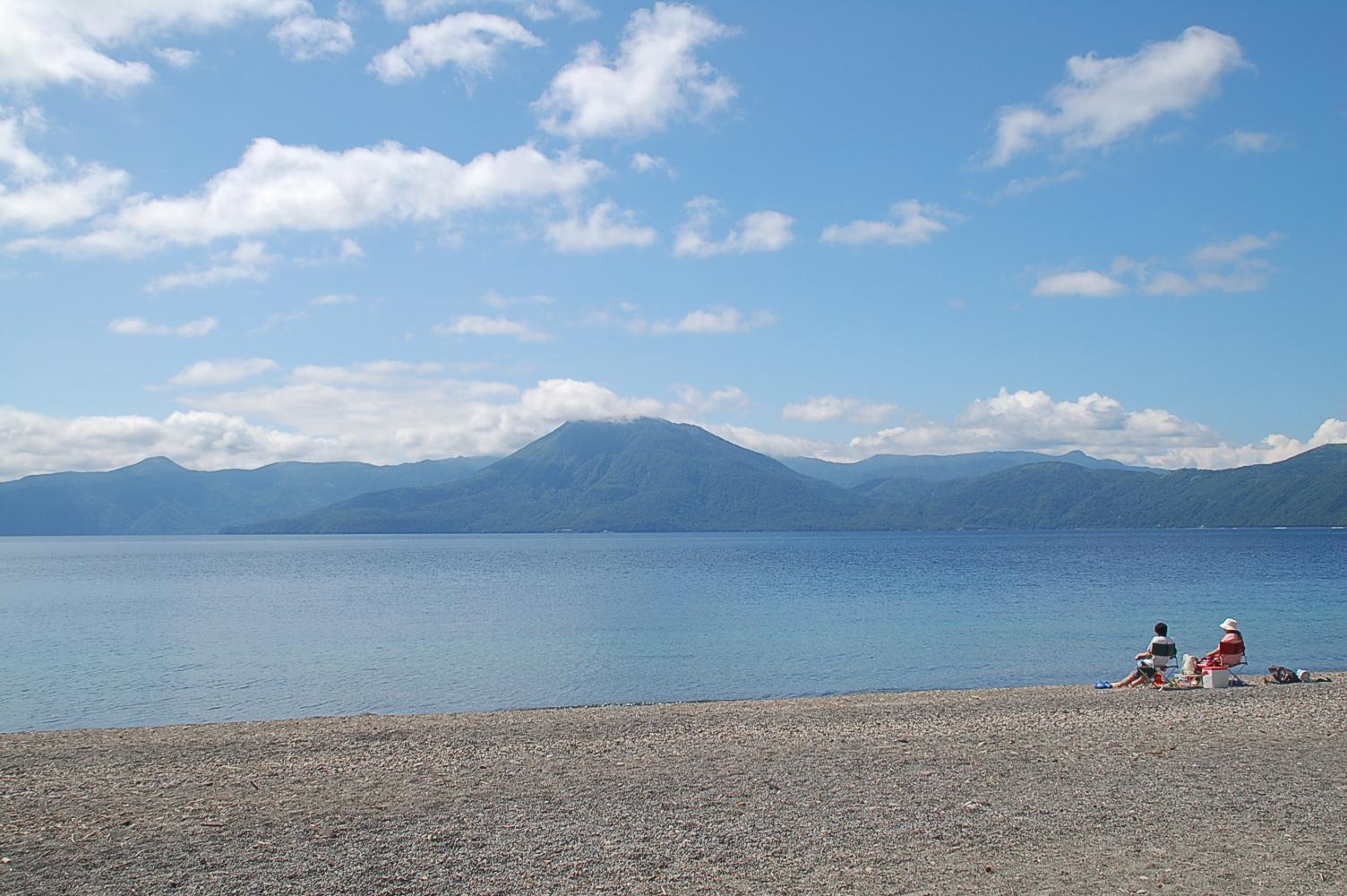 手ぶらで本格釣り体験とお手軽キャンプ in 支笏湖