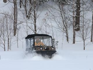 南富良野,雪上車,キャタピラー