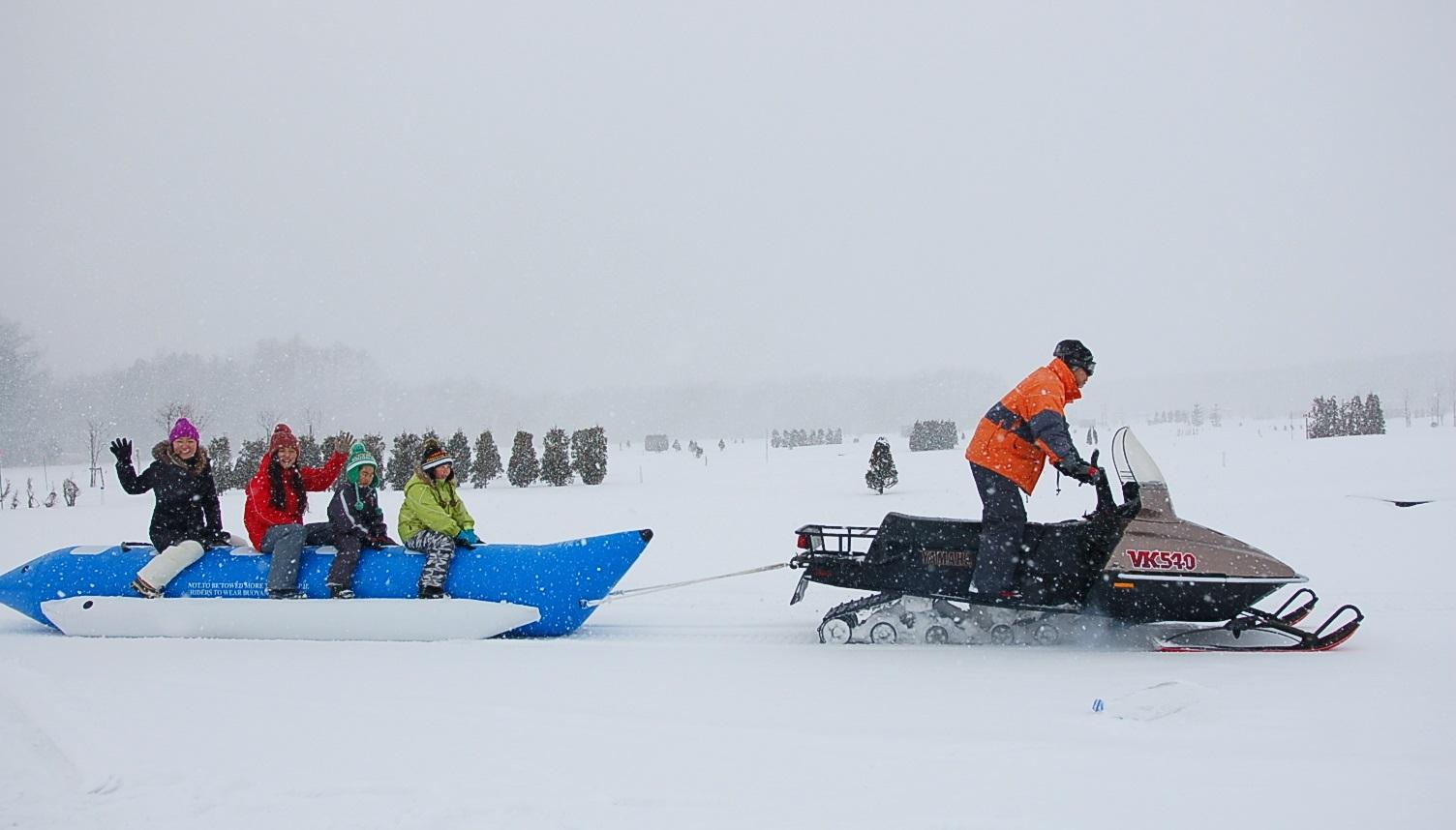 バナナボート,雪遊び