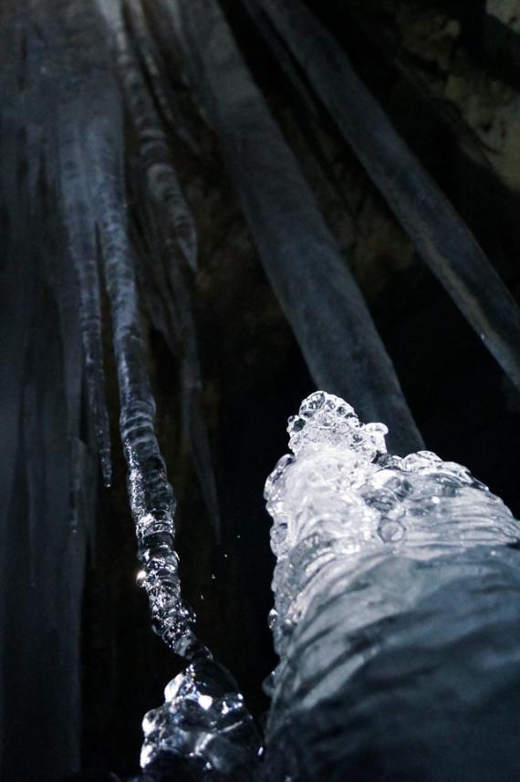 中頓別鍾乳洞,氷筍