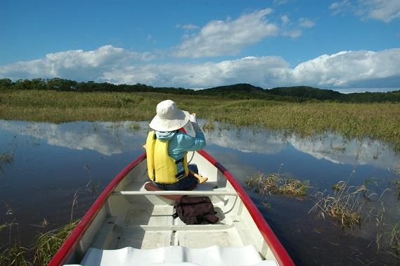 釧路湿原,カヌー